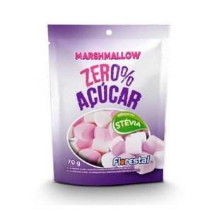 Marshmallow Zero Açúcar Sabor Morango Florestal 70g