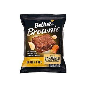Brownie Zero Glúten, Zero Lactose Belive Caramelo E Castanha Do Brasil Unidade