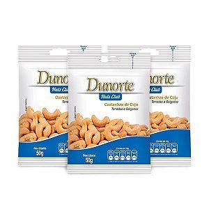 Castanha De Caju Salgada Dunorte Contendo 3 Pacotes De 50g Cada
