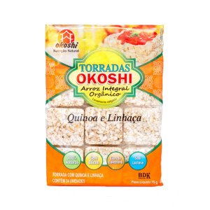 Torrada Orgânica Zero Glúten Quinoa E Linhaça Okoshi Com 24 Unidades