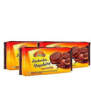 Biscoito Recheado Sem Lactose Liane 3 Pacotes 390g