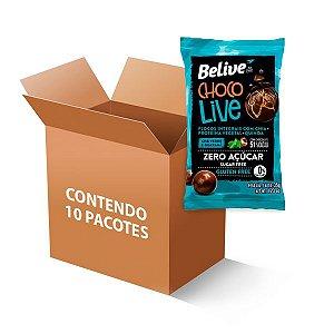 Choco Live Drageados Zero Glúten, Zero açúcar Chá Verde e Guaraná 51% Belive 10 pacotes de 35g cada
