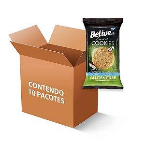 Cookies Belive Be Free Coco Sem Glúten, Zero Açúcar E Zero Lactose Contendo 10 Pacotes De 34g Cada