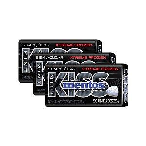 Mentos Kiss Latinha Xtreme Frozen Contendo 3 Latas De 35g