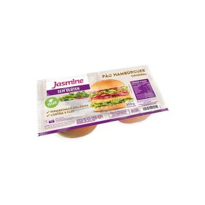 Pão de Hamburguer Sem Glúten Tradicional Jasmine contendo 4 unidades
