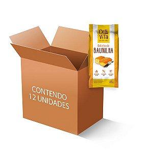 Bolinho de baunilha sem gluten e sem lactose CeliVita contendo 12 unidades de 35g cada