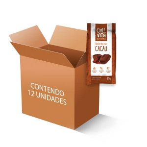 Bolinho Zero Glúten, Zero Lactose Celivita Cacau contendo 12 unidades de 35g cada