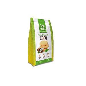 Biscoitos de Coco sem gluten e sem lactose CeliVita Gluten Free 100g