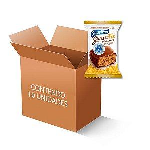 Pão de Mel Integral 7 cereais Fit Suavipan contendo 10 unidades de 35g cada