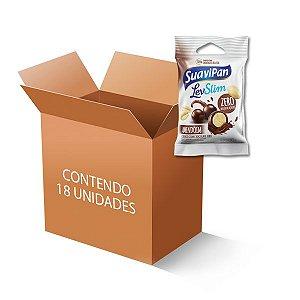 Drageados Zero Açúcar Amendoim coberto com Chocolate Suavipan contendo 18 pacotes de 40g cada