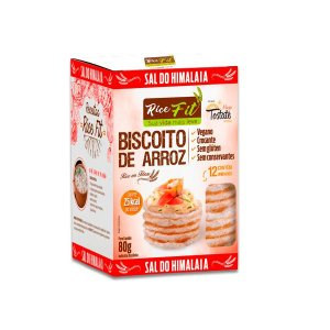 Biscoito de Arroz Sal do Himalaia Rice Fit 80g