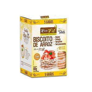 Biscoito de Arroz 5 Grãos Rice Fit 80g