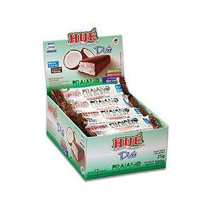 Praiano Hué - Cocada coberta com Chocolate, Zero Açúcar, Zero Glúten, Zero Lactose contendo 12 unidades de 25g cada