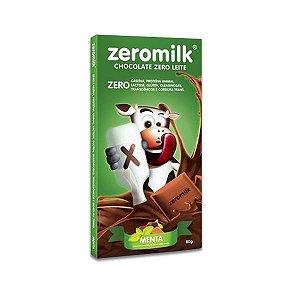 Chocolate Zeromilk Menta, 40% Cacau, Zero Lactose 80g
