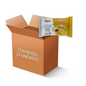 Banana com Abacaxi Zero Açúcar Sucesso Fit contendo 24 unidades de 25g cada