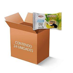 Banana Passa Zero Açúcar Sucesso Fit contendo 24 unidades de 25g cada