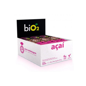 Barra De Sementes Açaí Coberto Com Chocolate Meio Amargo Bio2 Seeds Contendo 12 Unidades