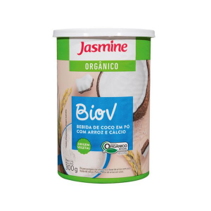 Biov Bebida De Arroz E Coco Em Pó Com Cálcio Orgânica Jasmine 300g
