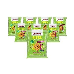 Biscoito Bites Orgânico Mediterrâneo Jasmine Contendo 8 Pacotes De 25g Cada