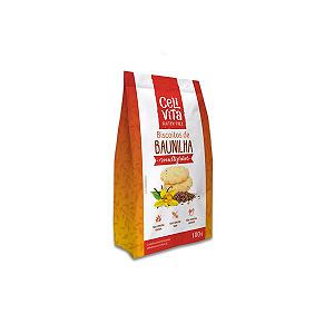 Biscoitos de Baunilha Multigrãos Zero Glúten, Zero Lactose Celivita contendo 3 pacotes de 100g cada