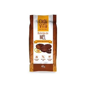 Bolinho Zero Glúten, Zero Lactose Celivita Mel coberto com Chocolate 40g