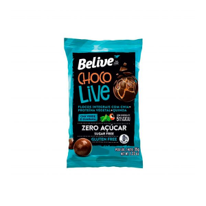 Choco Live Drageados Zero Glúten, Zero Açúcar Chá Verde E Guaraná 51% Belive 35g Cada