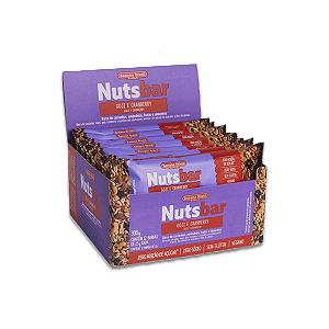 Nuts Bar Goji e Cranberry Zero Açúcar, Vegano, Zero Glúten contendo 12 barras de 25g cada