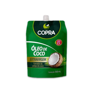 Óleo de Coco Extravirgem Copra Pouch contendo 2 unidades de 500ml cada