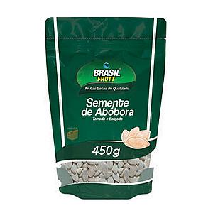 Semente De Abóbora Sem Casca Torrado E Salgado Brasil Frutt 450g