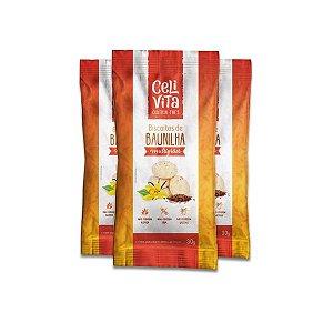 Biscoito de baunilha multigrãos sem gluten e sem lactose CeliVita Gluten Free contendo 3 pacotes de 30g cada