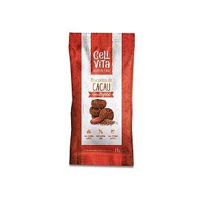 Biscoito de cacau multigrãos sem gluten e sem lactose CeliVita Gluten Free 30g