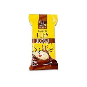 Biscoito de fubá chocobase sem gluten e sem lactose CeliVita Gluten Free 40g