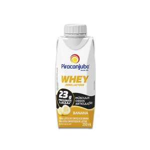 Whey Zero Lactose Banana Piracanjuba 250ml