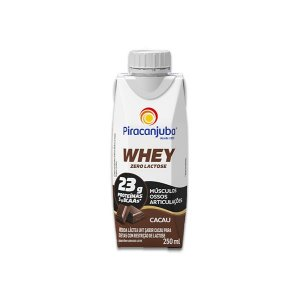 Whey Zero Lactose Cacau Piracanjuba 250ml