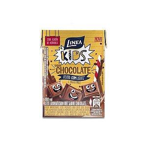 Leite Aromatizado UHT sabor Chocolate Zero Açúcar Linea 200ml