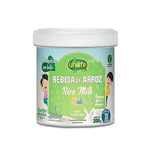 Bebida de Arroz em Pó sabor Baunilha Zero Lactose Rice Milk Unilife 200g
