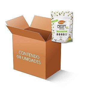 Ervilha Crispy Flormel Azeite e Alho contendo 8 pacotes de 35g cada