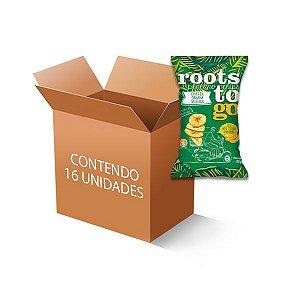Chipps de Banana Salgada Roots to go contendo 16 unidades de 45g