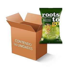 Veggie Sticks Palitinhos De Batatas-doces Roots to go contendo 16 unidades de 45g