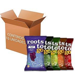 Chips De Batatas Sortidas Roots to go contendo 16 unidades de 45g