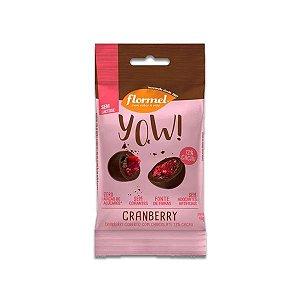 Cranberry com Chocolate 72% Cacau Flormel Yow! 40g