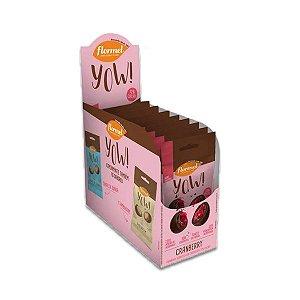 Cranberry com com Chocolate 72% Cacau Flormel Yow! com 8 pacotes