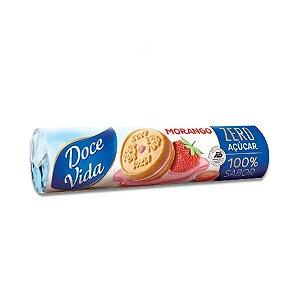 Biscoito Recheado Zero Açúcar Morango Doce Vida 120g