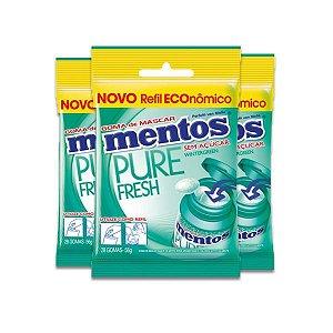 Mentos Bag Refil Wintergreen Zero Açúcar com 3 pacotes de 56g cada