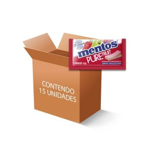 Mentos Pure Fruit 3 Camadas contendo 15 Sticks