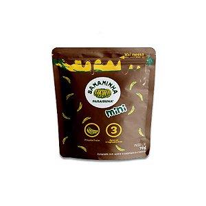 Bananinha Natural Mini Paraibuna com Açúcar coberta chocolate 70g