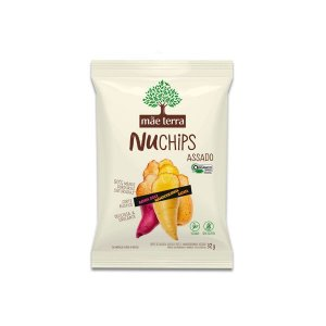 Batata Doce + Mandioquinha + Batata Vegano, Orgânico NuChips Mãe Terra 32g