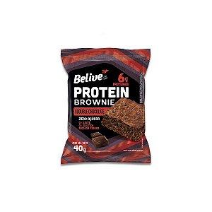 Brownie Protein Double Chocolate Zero Leite, Zero Glúten Belive 40g