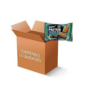 Cookie Bar Protein Castanha de Caju com Chocolate Zero Leite, Zero Açúcar Belive contendo 10 pacotes de 55g cada