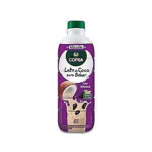 Leite De Coco sabor Ameixa Pronto Para Beber Zero Açúcar Copra 900ml